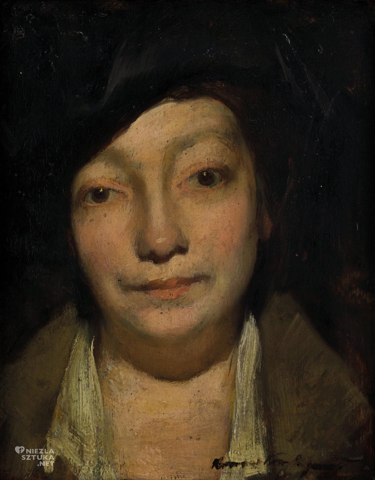Konrad Krzyżanowski, Michalina Krzyżanowska, Portret żony, Muzeum Górnośląskie w Bytomiu, Niezła sztuka