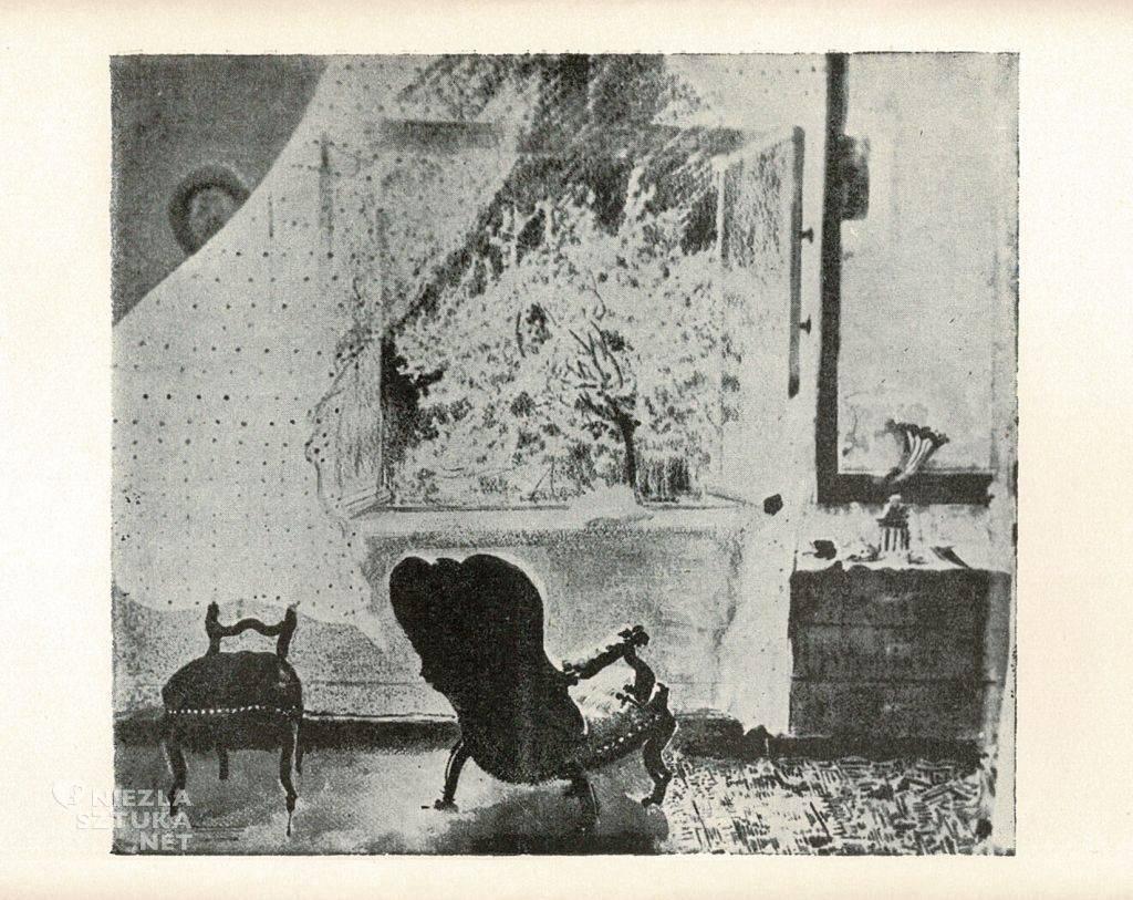 leon wyczółkowski, wiosna, wnętrze pracowni, gościeradz, strata wojenna, niezła sztuka