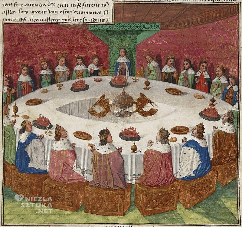 Évrard d'Espinques, okrągły stół, król Artur, manuskrypt, Prose Lancelot, Niezła sztuka