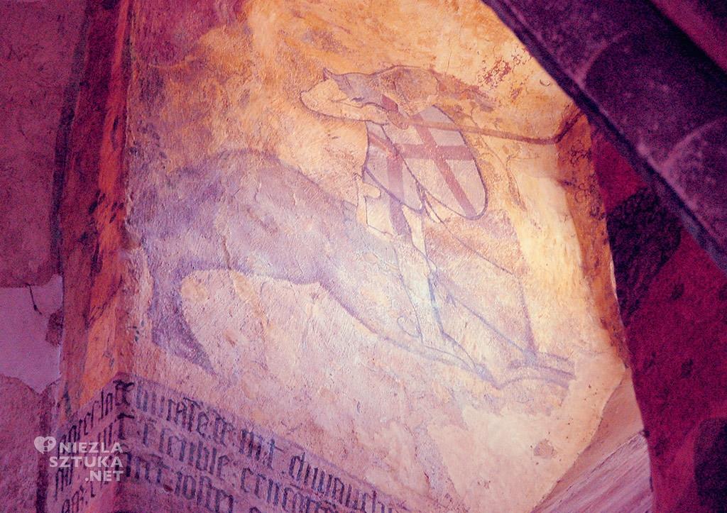 Saint-Floret, zamek, malowidła ścienne, legendy arturiańskie, Niezła sztuka