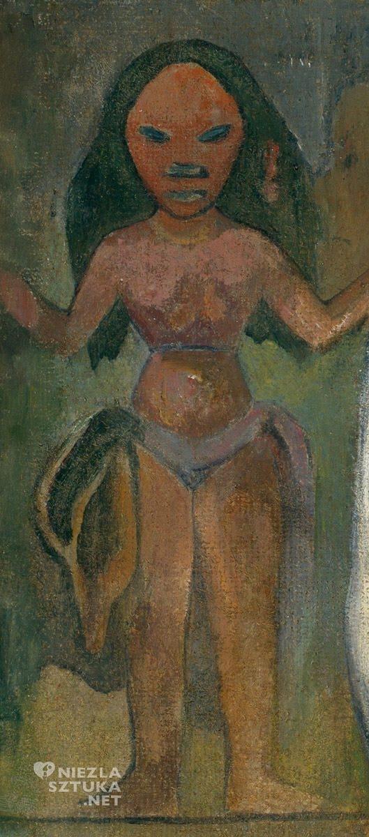 Paul Gauguin, Merahi metua no Tehamana, Tahiti, detal, Niezła Sztuka