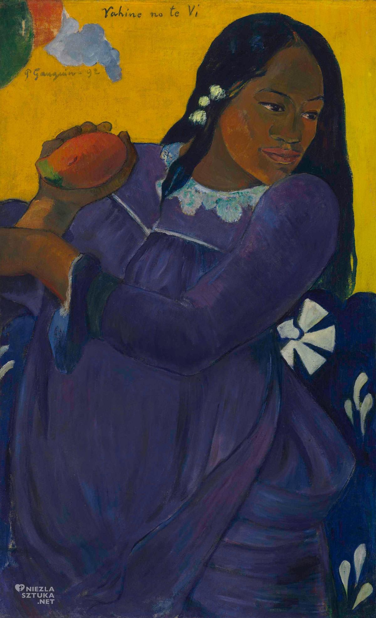 Paul Gauguin, Kobieta z mango, Vahine No Te Vi, Tehura, Tehamana, Niezła sztuka