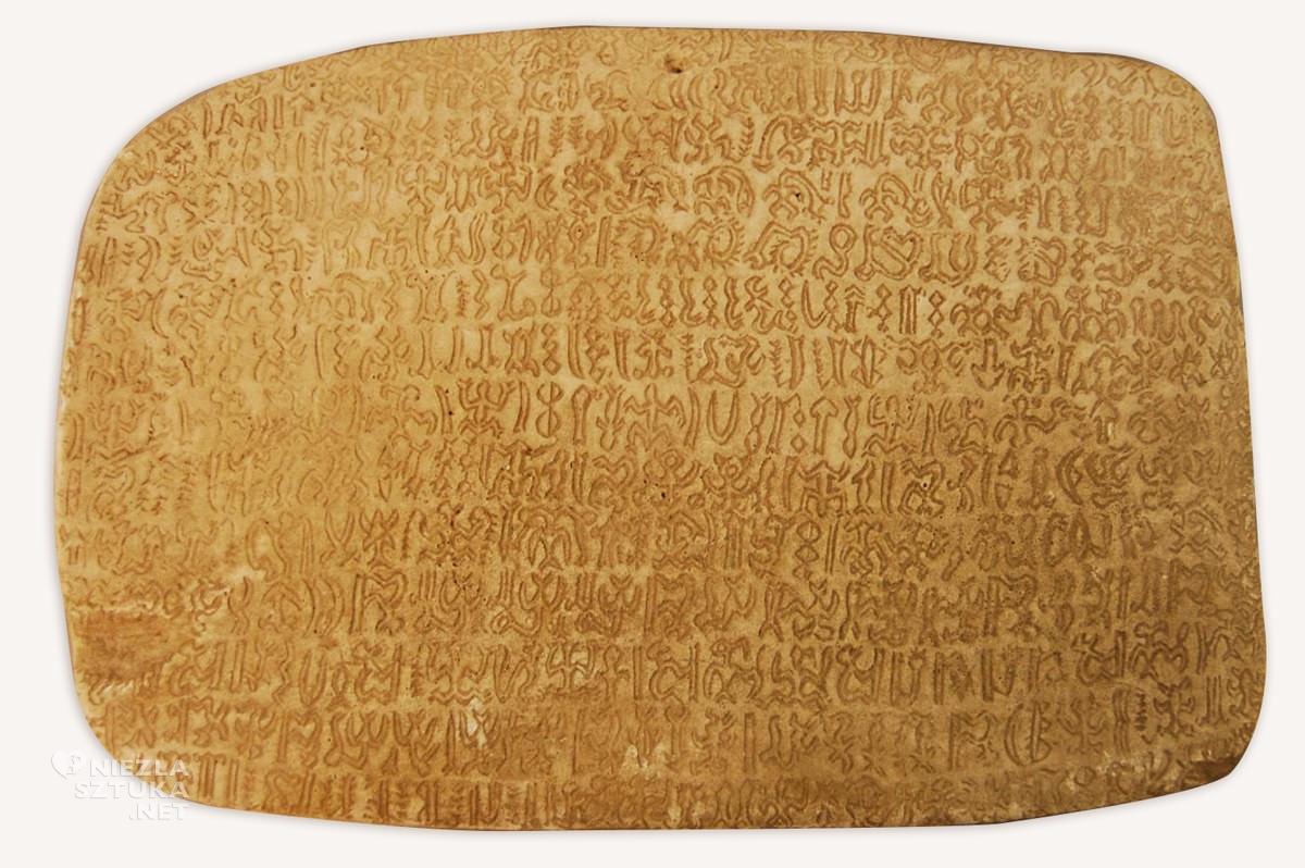 Tabliczka, pismo rongo-rongo, wyspy wielkanocne, fot. British Museum, Londyn, Niezła sztuka