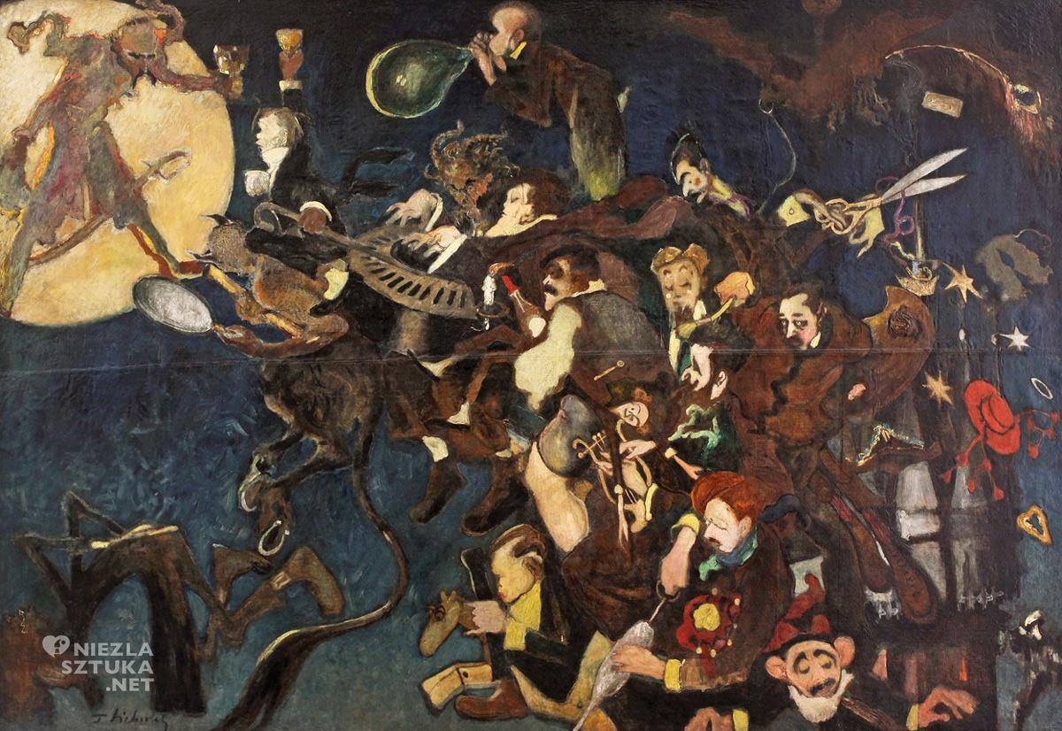 Kazimierz Sichulski, karykatura, Kabaret Zielonego Balonika, sztuka polska, malarstwo polskie, Kraków, Młoda Polska, Niezła sztuka