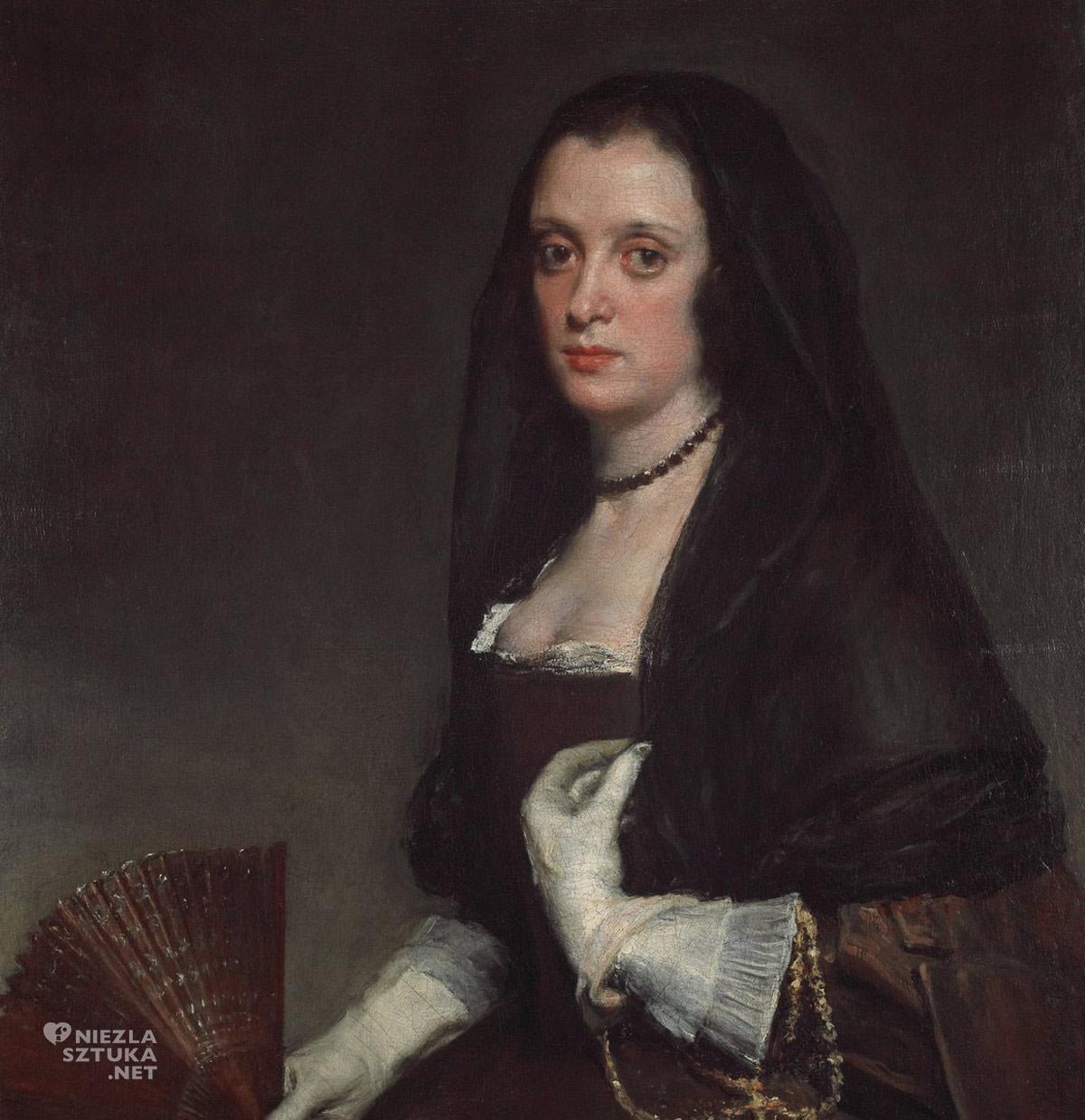 Diego Velázquez, Dama z wachlarzem, portret, sztuka hiszpańska, Niezła sztuka