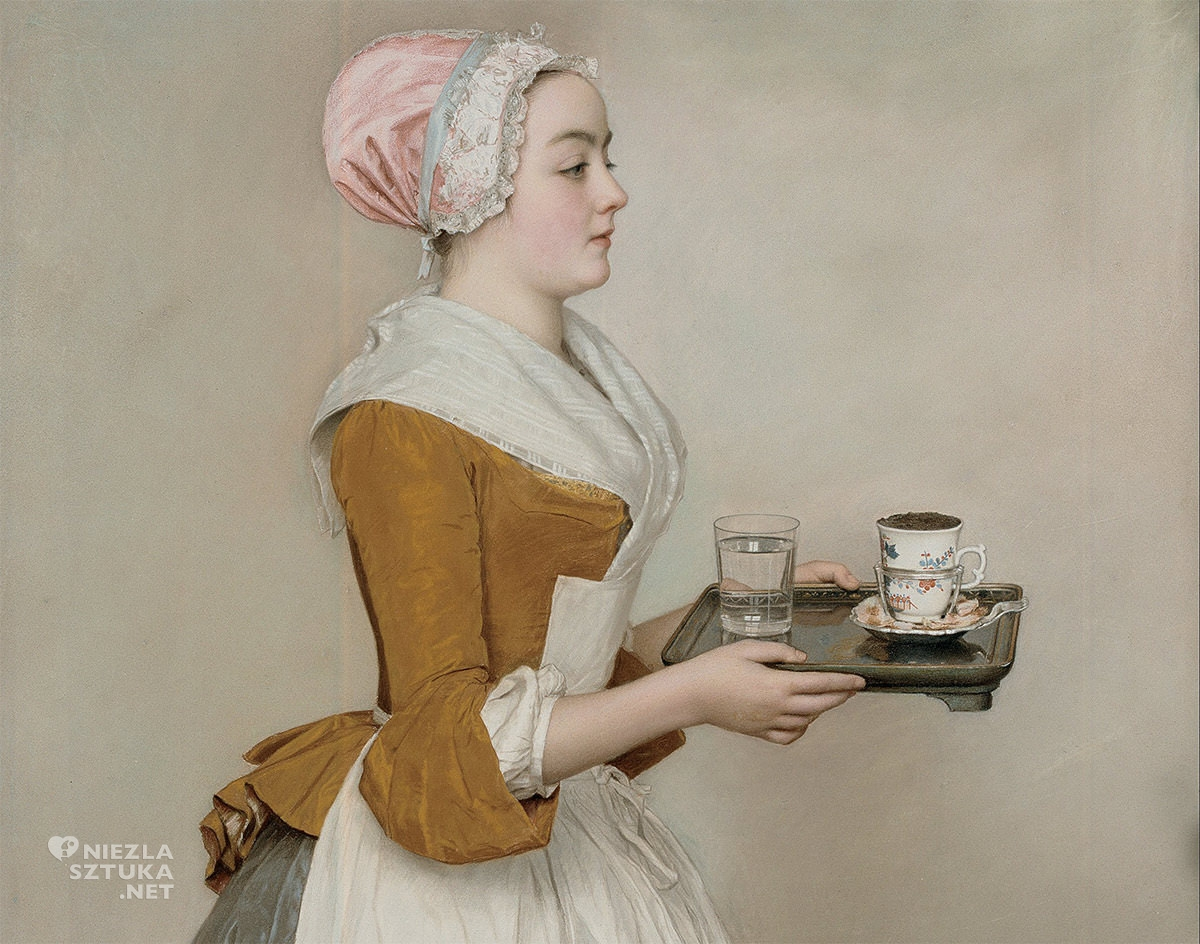 Jean-Étienne Liotard, Czekoladziarka, Gemäldegalerie Alte Meister, Drezno, Niezła sztuka