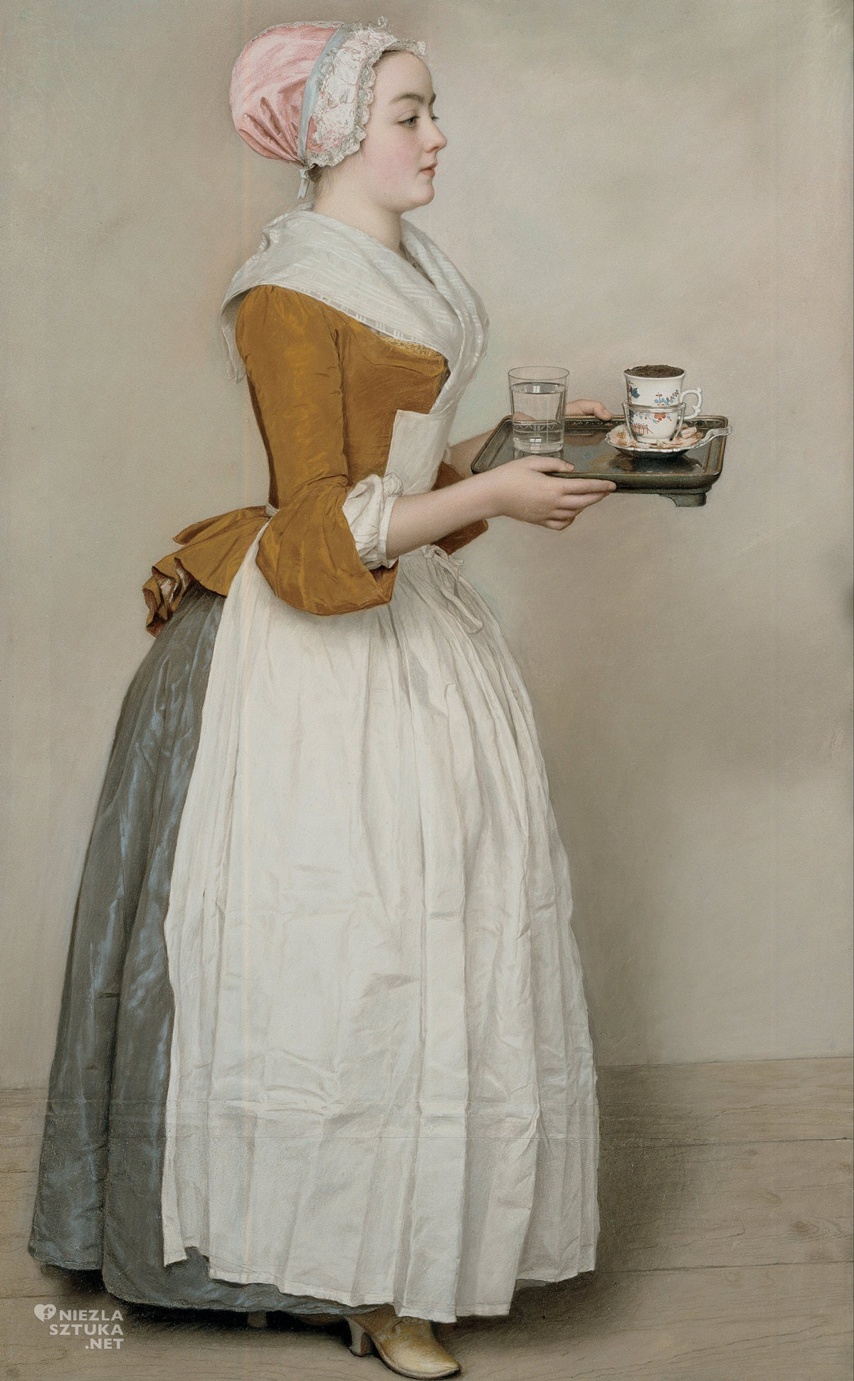 Jean-Etienne Liotard, Czekoladziarka, Gemäldegalerie Alte Meister, Drezno, Niezła sztuka