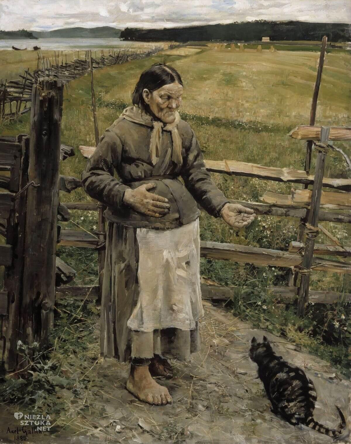 Akseli Gallen-Kallela, Stara kobieta i kot, sztuka skandynawska, Niezła sztuka