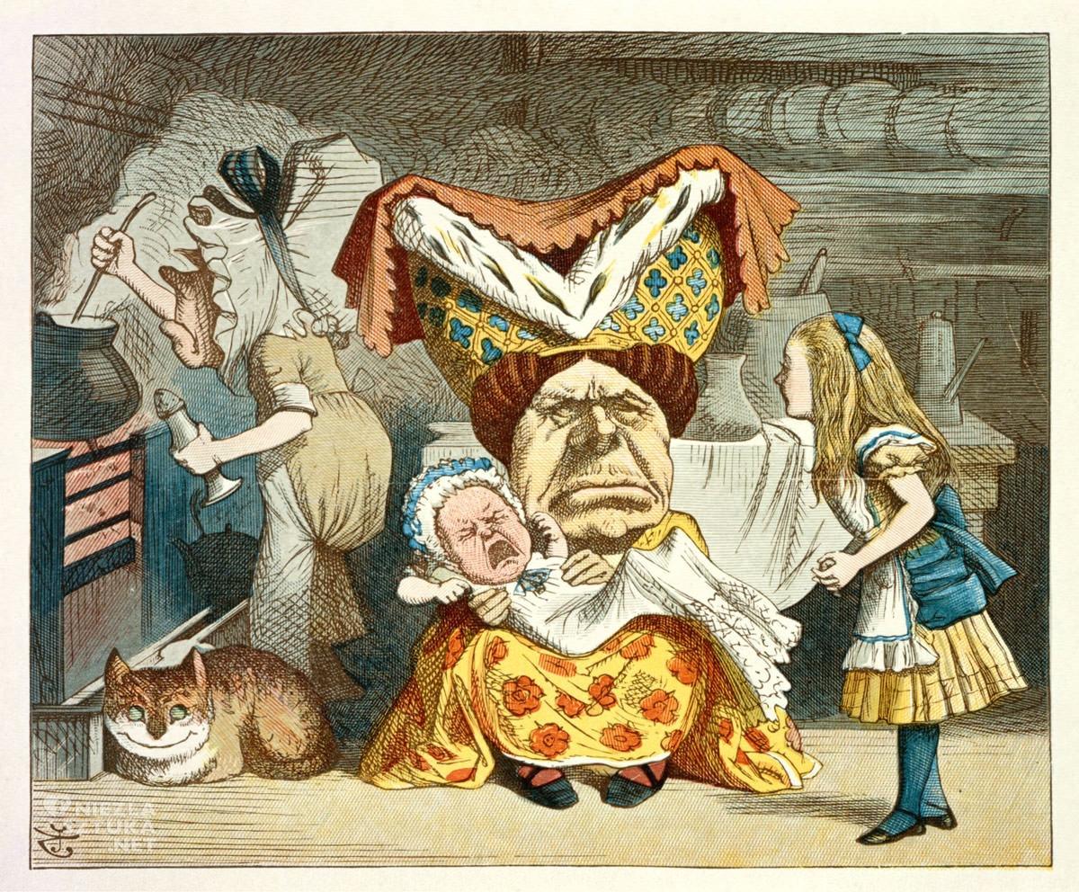 John Tenniel, Alicja w krainie czarów, Lewis Carroll, ilustracja, Niezła sztuka