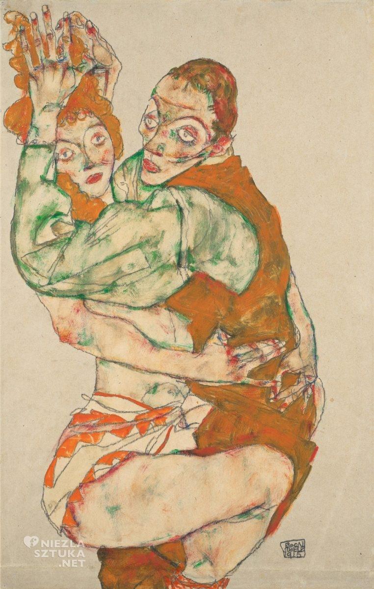 Egon Schiele, Para, Leopold Museum, Wiedeń, niezła sztuka