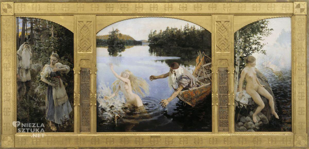 Akseli Gallen-Kallela, Tryptyk Aino, sztuka skandynawska, Niezła sztuka