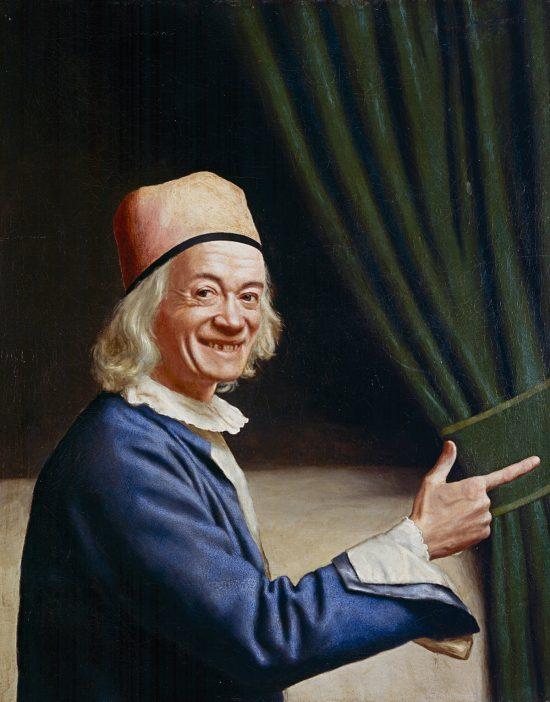 Jean-Étienne Liotard, Autoportret z uśmiechem, malarz szwajcarski, sztuka europejska, Niezła Sztuka