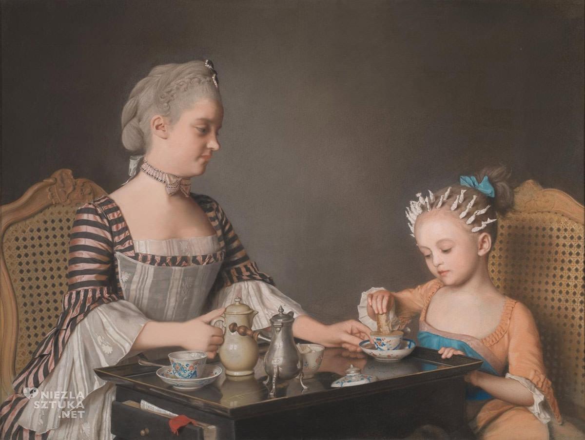 Jean-Étienne Liotard, Śniadanie, malarz szwajcarski, sztuka europejska, Niezła Sztuka