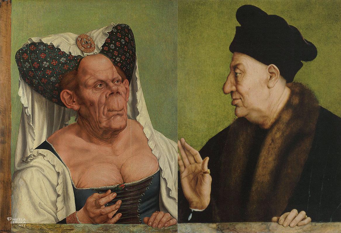 Quinten Massys, Stara kobieta, Brzydka księżniczka, Portret starszego mężczyzny, malarstwo niderlandzkie, Niezła sztuka