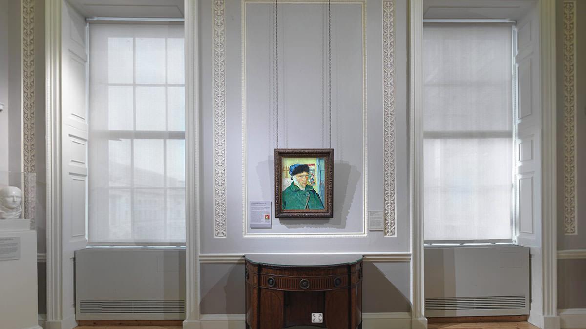 van gogh, autoportret z zabandażowanym uchem, obcięte ucho, autoportret, niezła sztuka