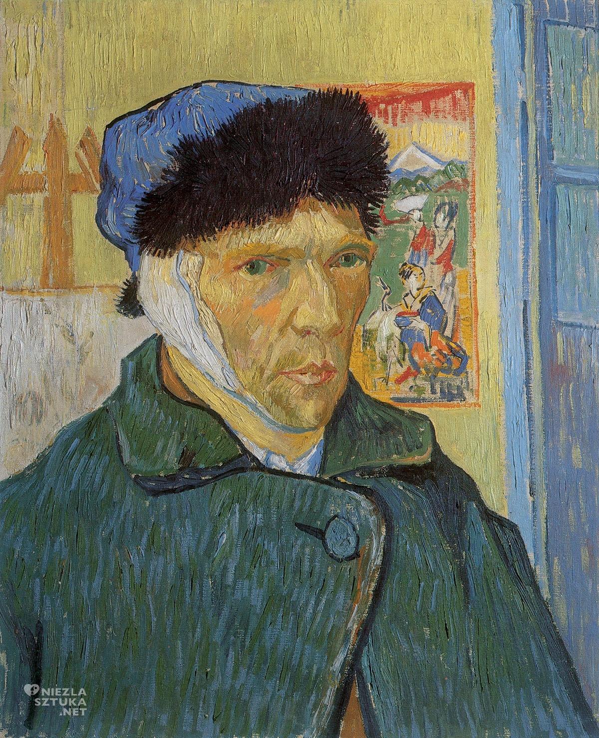 Vincent van Gogh, Autoportret z zabandażowanym uchem, autoportret artysty, Niezła Sztuka