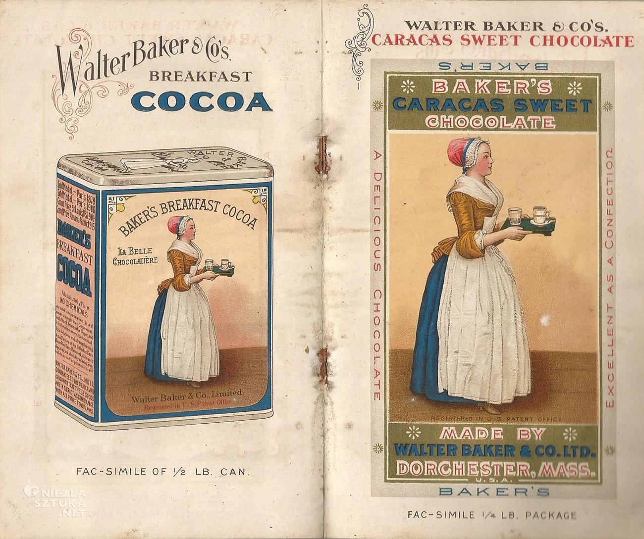 Walter Baker and Company, czekolada, reklama, Niezła Sztuka