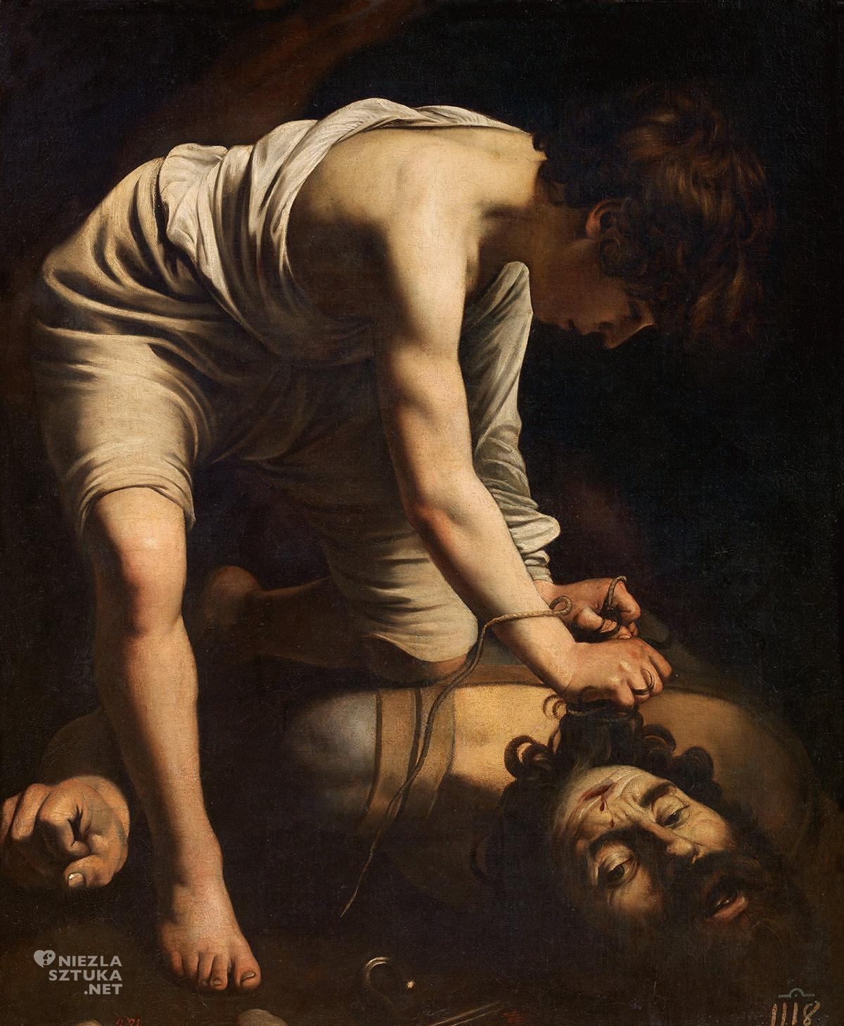 Caravaggio, Dawid z głową Goliata, barok, malarstwo europejskie, Prado, Niezła Sztuka