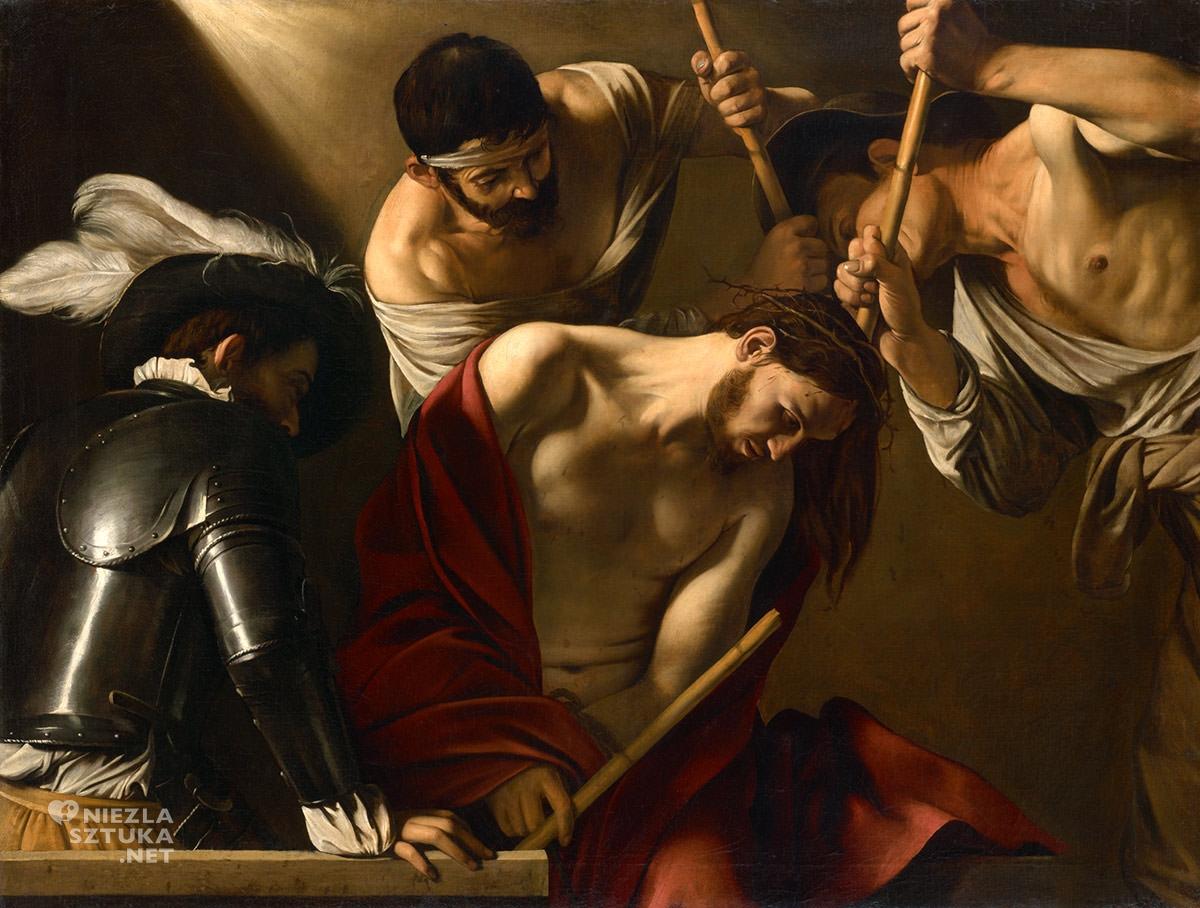 Caravaggio, Cierniem koronowanie, malarstwo religijne, barok, Niezła Sztuka