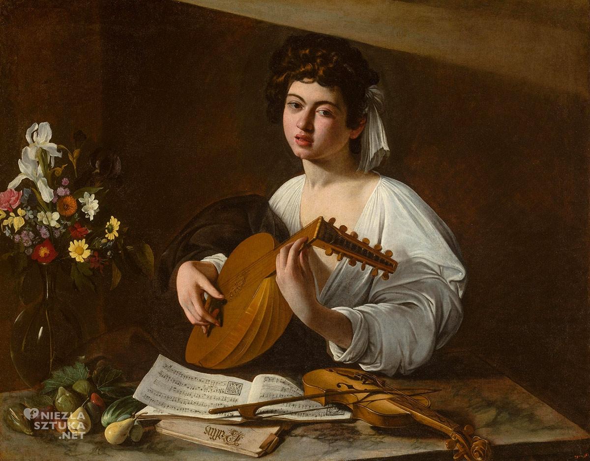 Caravaggio, Lutnista, muzyka, malarstwo, barok, Niezła Sztuka