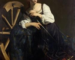 Caravaggio, święta Katarzyna Aleksandryjska, sztuka europejska, barok, Niezła Sztuka