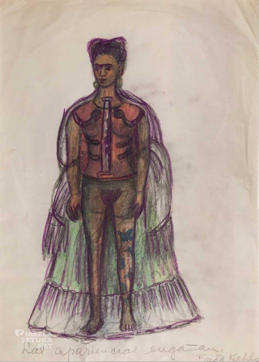 Frida Kahlo , rysunek, niezła sztuka