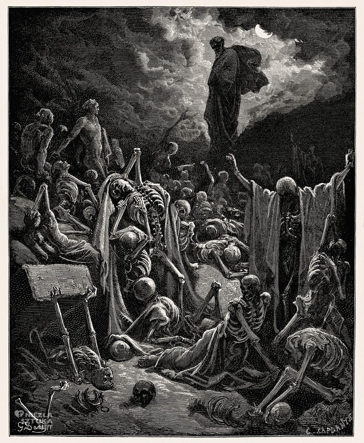 Gustave Doré, Wizja Ezechiela, Wizja doliny suchych kości, niezła sztuka