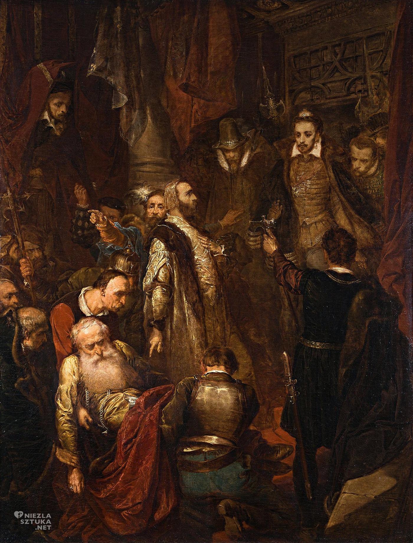 Jan Matejko, Zabicie Wapowskiego w czasie koronacji Henryka Walezego, malarstwo historyczne, malarstwo polskie, Niezła Sztuka