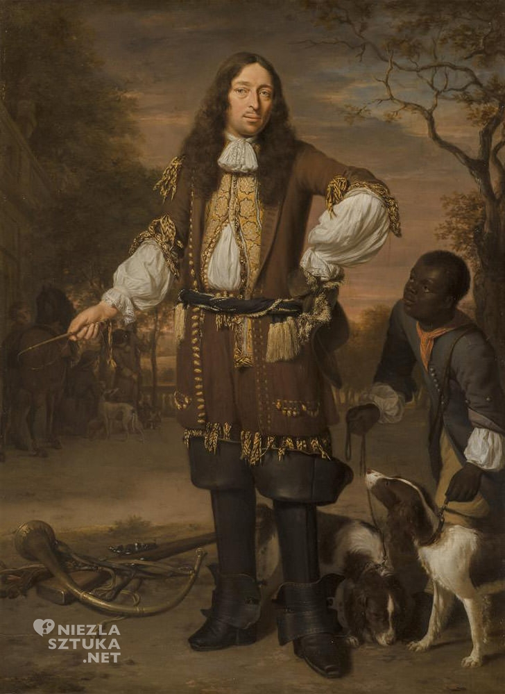Jan Verkolje, Portret Johana de la Faille, malarstwo holenderskie, sztuka holenderska, Niezła sztuka