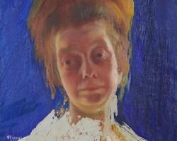 Konrad Krzyżanowski, Portret żony, Michalina Krzyżanowska, sztuka polska, malarz polski, Niezła sztuka