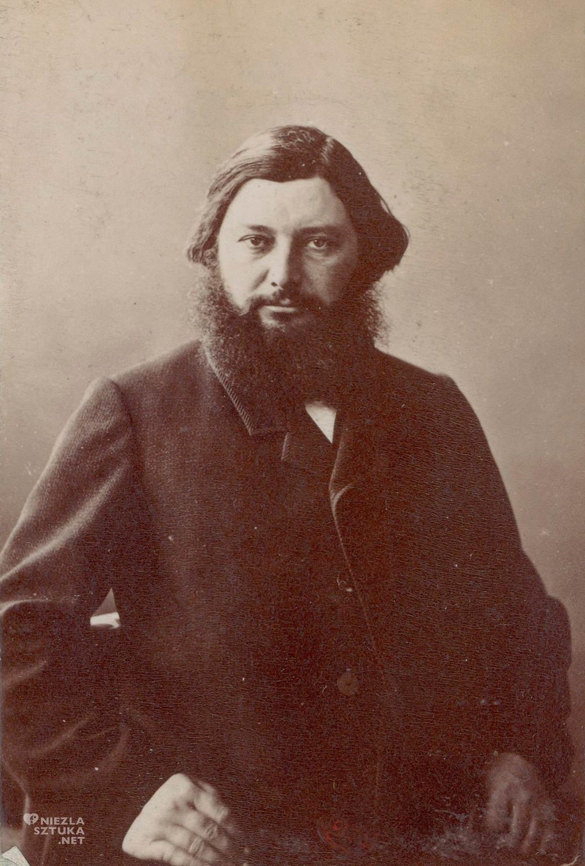 Nadar, Félix Tournachon dit, Portret Gustawa Courbeta, portret, fotografia, Niezła Sztuka