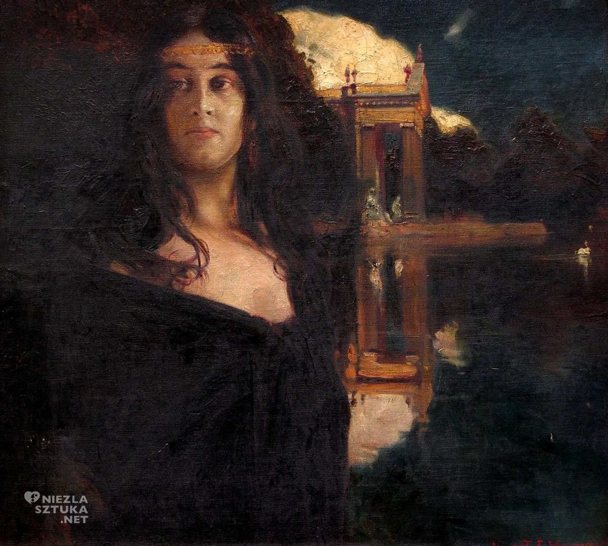 Feliks Michał Wygrzywalski, Wenecjanka, Muzeum Mazowieckie, malarstwo polskie, portret kobiecy, Niezła Sztuka