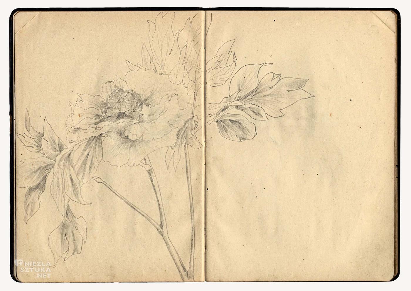 Yayoi Kusama, strona ze szkicownika, sztuka współczesna, Niezła Sztuka