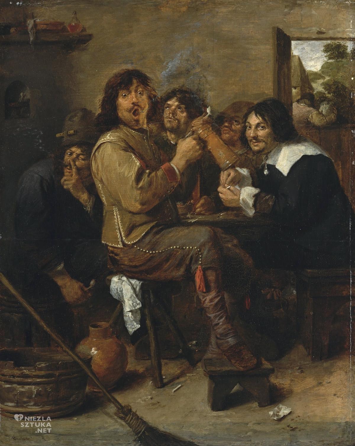 Adriaen Brouwer, Palacze, sztuka europejska, malarstwo flamandzkie, Niezła Sztuka