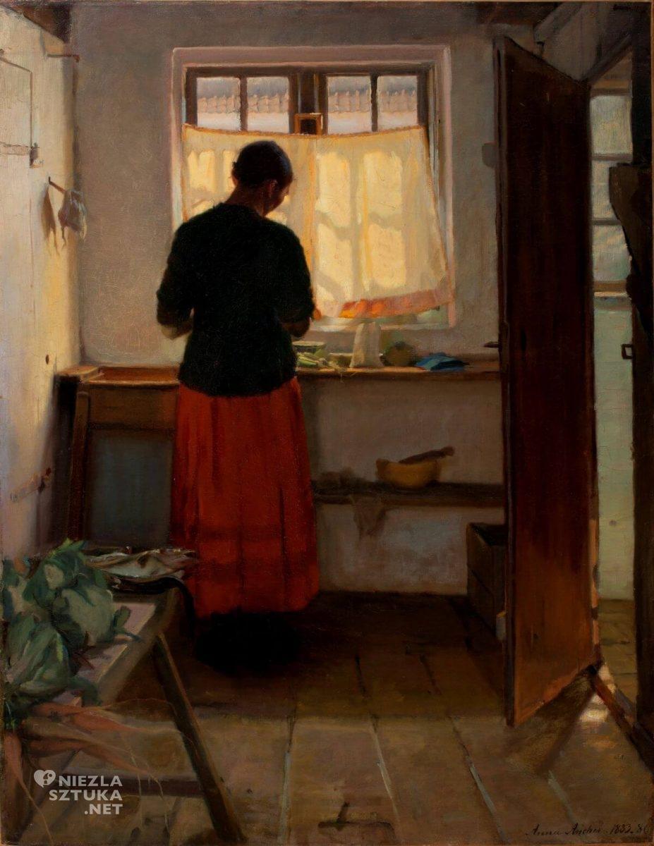 Anna Ancher, Dziewczyna w kuchni, sztuka skandynawska, Niezła sztuka