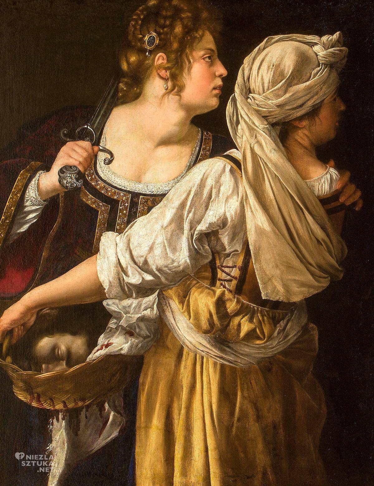 Artemisia Gentileschi, Judyta ze służącą, malarstwo barokowe, Niezła Sztuka