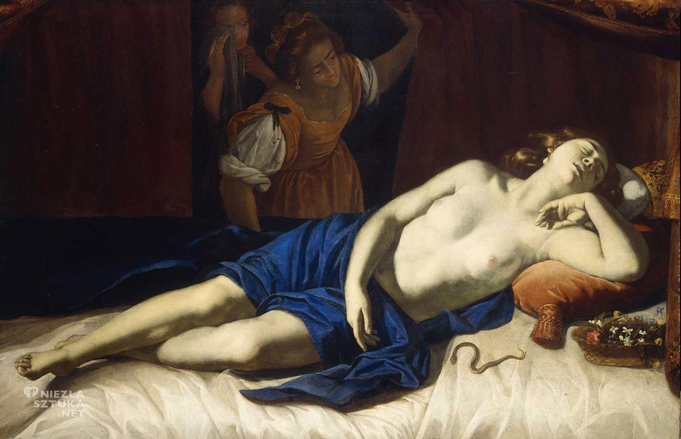 Artemisia Gentileschi, Kleopatra, malarstwo włoskie, Niezła sztuka
