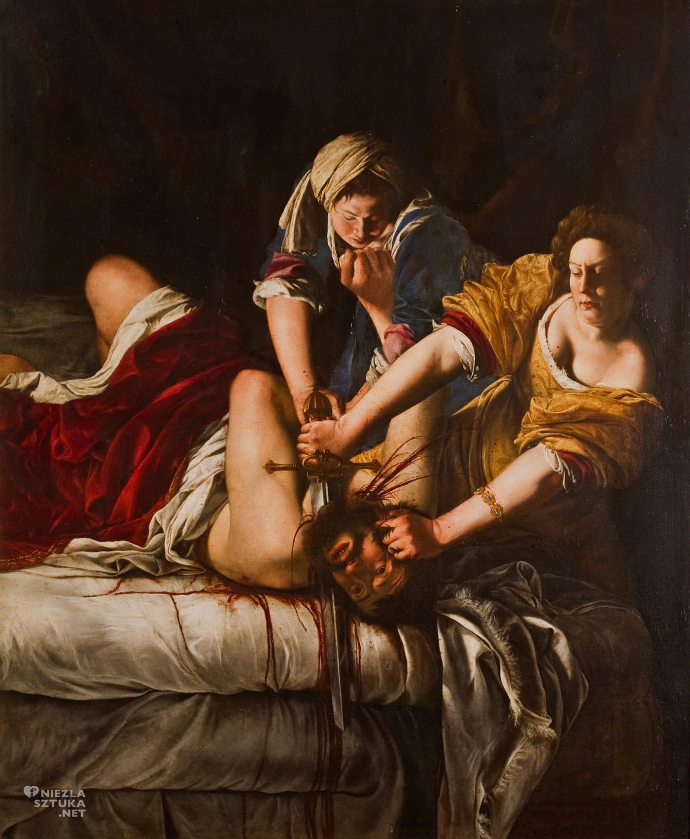 Artemisia Gentileschi, Judyta i Holofernes, malarstwo barokowe, malarstwo włoskie, Niezła Sztuka