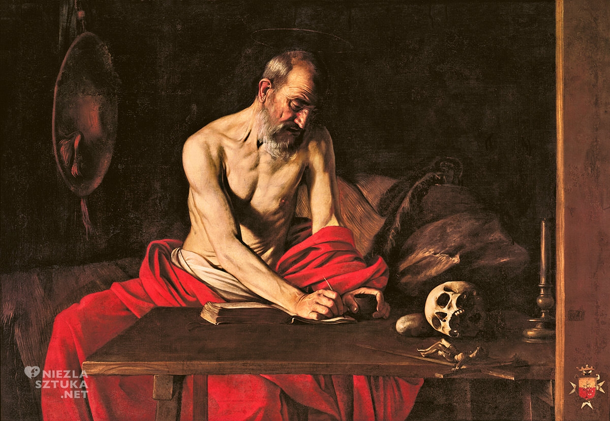 Caravaggio, Święty Hieronim, katedra św. Jana, Valletta, Malta, Niezła sztuka
