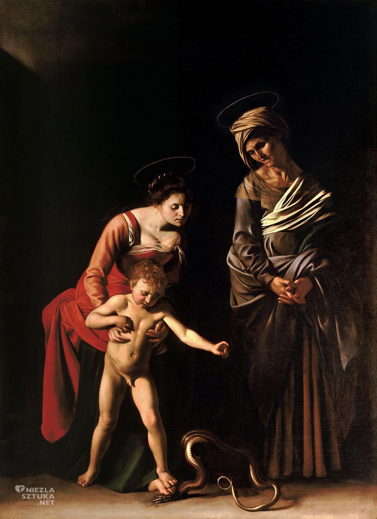 Caravaggio, Madonna z Dzieciątkiem i św. Anną, Madonna dei Palafrenieri, sztuka włoska, Niezła sztuka