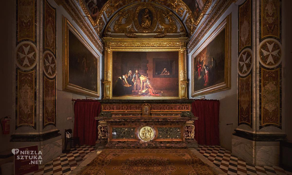 Caravaggio, Ścięcie św. Jana Chrzciciela, Konkatedra św. Jana, Valletta, Malta, Niezła sztuka