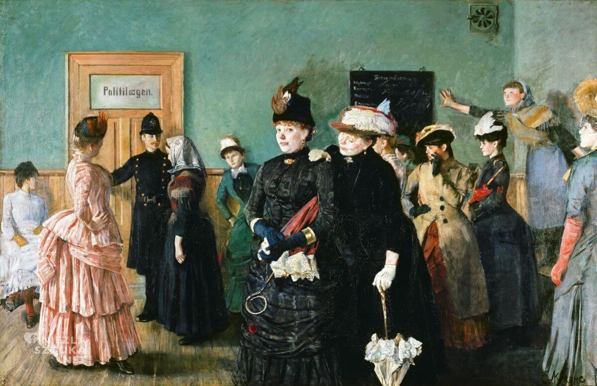 Christian Krohg, Albertyna w poczekalni u doktora policyjnego, sztuka skandynawska, Niezła sztuka