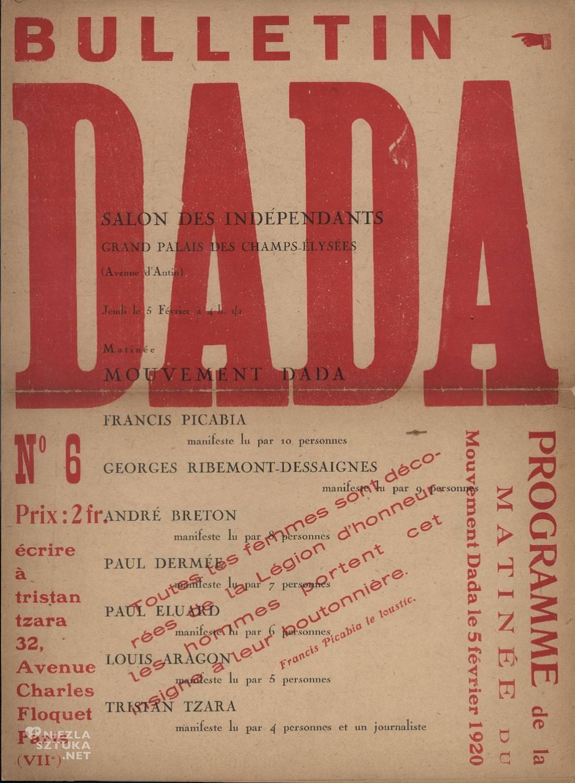 Dadaizm, Dada, manifest, sztuka współczesna, Niezła Sztuka
