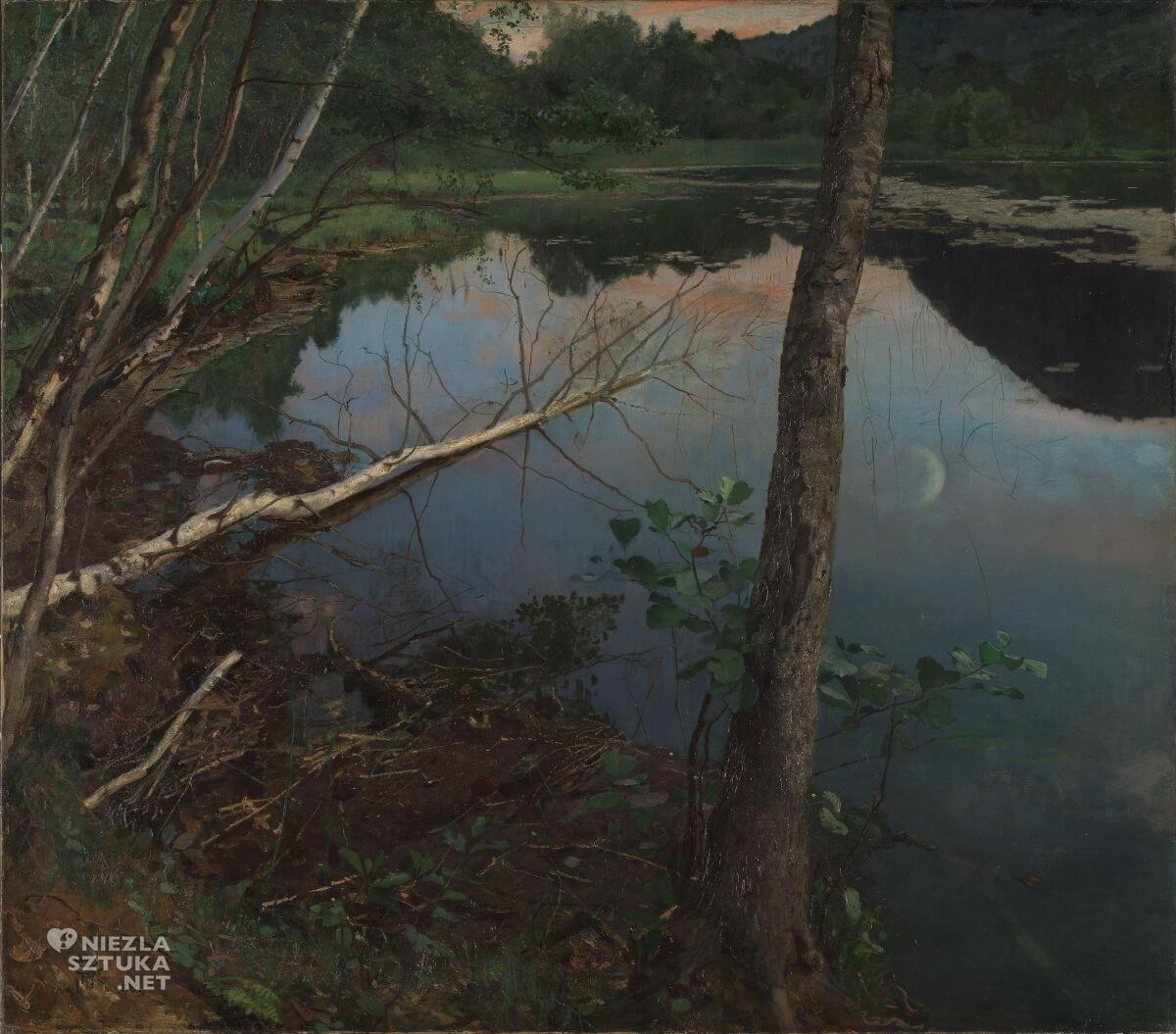 Eilif Peterssen, Letnia noc, sztuka skandynawska, Niezła sztuka