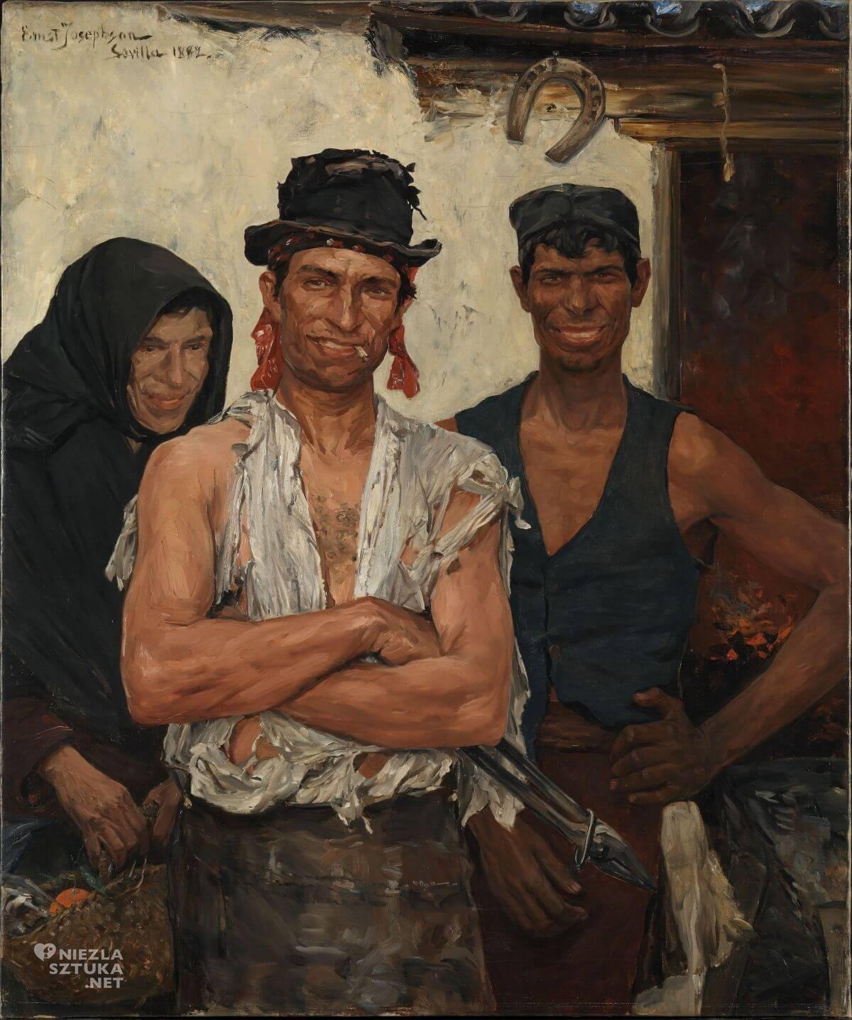 Ernst Josephson, Hiszpańscy kowale, sztuka skandynawska, Niezła sztuka