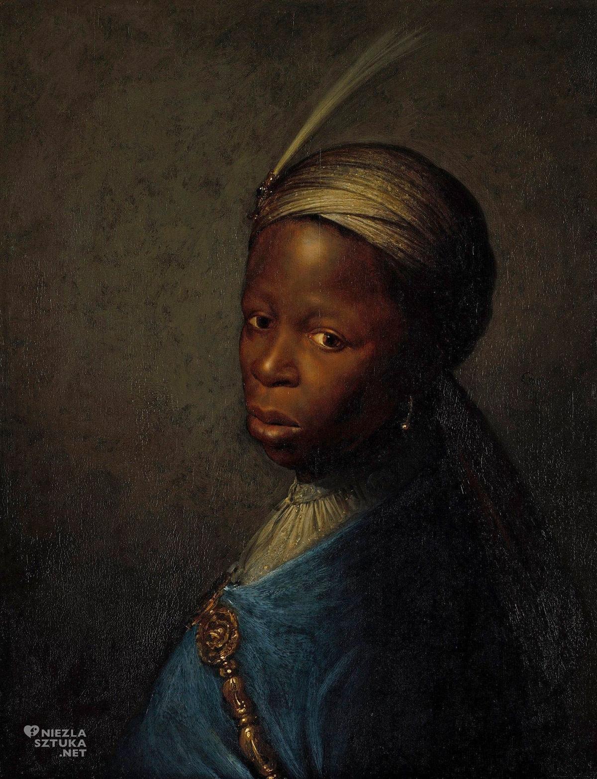 Gerrit Dou, Gerard Dou, Portret Murzynki, sztuka holenderska, malarstwo holenderskie, Niezła sztuka
