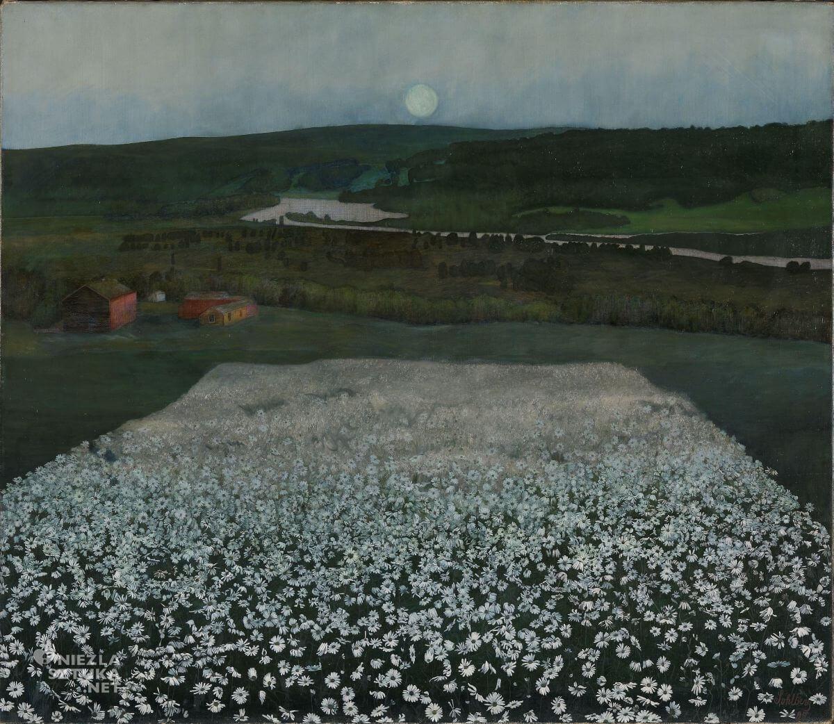 Harald Sohlberg, Kwietna łąka na północy, sztuka skandynawska, Niezła sztuka
