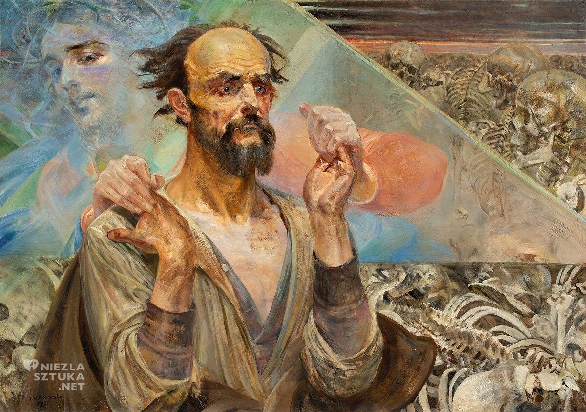 Jacek Malczewski, Wizja Ezechiela, autoprtret, stary testament, symbolizm, malarstwo polskie,