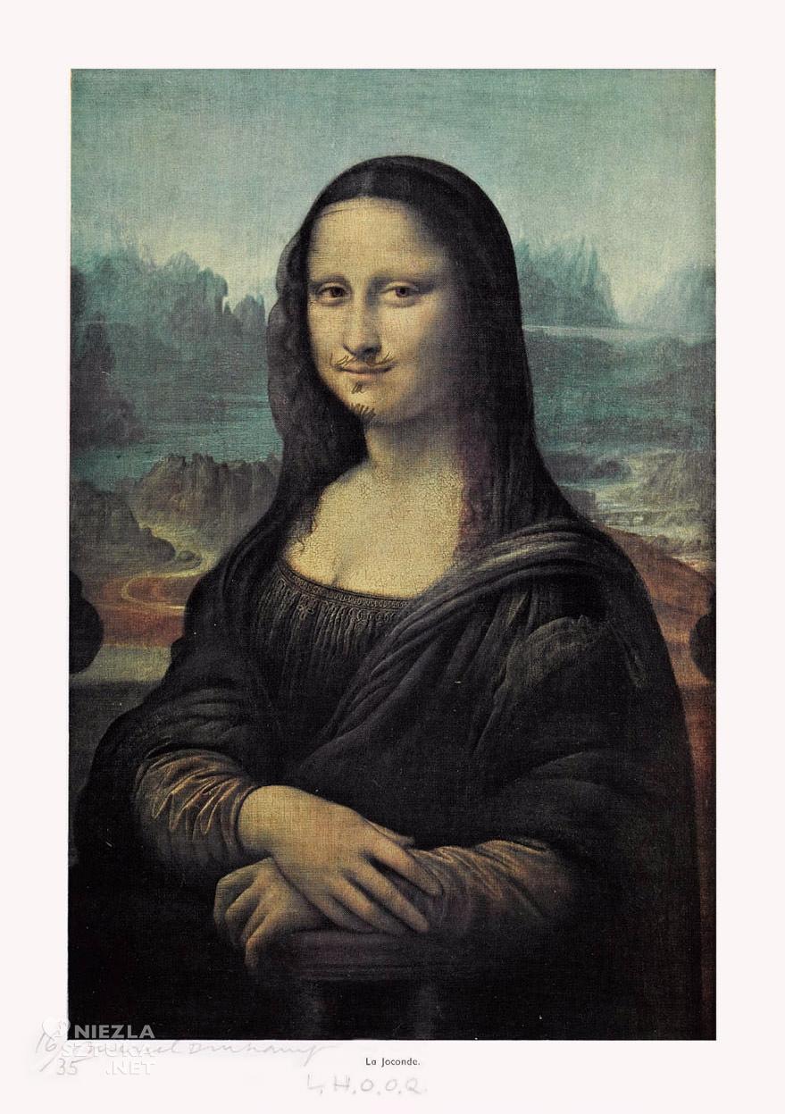 Marcel Duchamp, L.H.O.O.Q, Mona Lisa, dadaizm, Niezła Sztuka