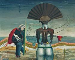 Max Ernst, Kobieta, starzec i kwiat, dadaizm, surrealizm, sztuka współczesna, Niezła Sztuka